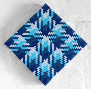 Blue Paper Weave